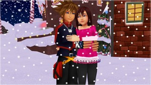 Is not a gift  is what in your heart.  Sora and Kairi .