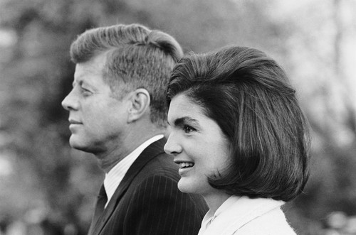 Jackie Kennedy Wallpaper Containing A Business Suit Called JFK And 7