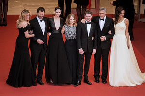 """Jack O'Connell and the cast of """"Money Monster"""" at the Cannes Film Festival Premiere"""