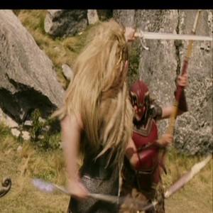 Jadis in battle with a Faun jadis reyna of narnia 33893055 500 500