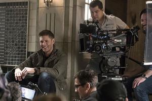 Jensen On Set of Supernatural