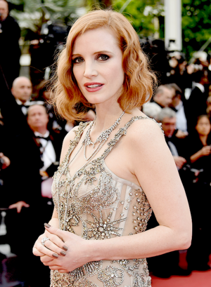 Jessica Chastain attends the 'Money Monster' premiere during the 69th annual Cannes Film Festiva