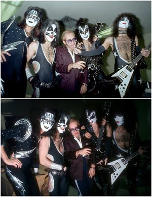 Kiss w-Elton John ~Inglewood, California…February 23, 1976