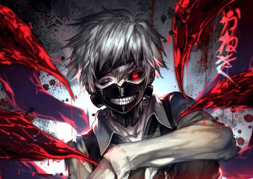 Tokyo Ghoul karatasi la kupamba ukuta called Kaneki Ken