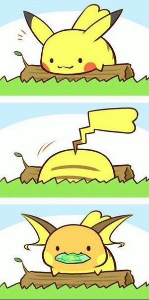 Kawaii Pikachu/Raichu X3