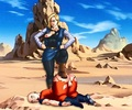 Krillin owned counut: over nine thousand! - android-18 photo