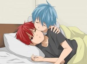 Kuroko kissing Akashi