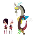 LPS Fanart Brittany and Whittany with Discord - discord-my-little-pony-friendship-is-magic fan art