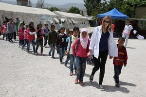 Laura Carmichael in Lebanon