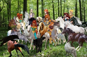 Leetah, Ember, and the other Female Wolfriders are capturing Beautiful Wild Kuda
