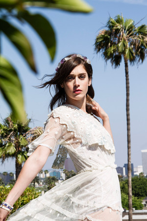 Lizzy Caplan - LadyGunn Photoshoot - April 2015