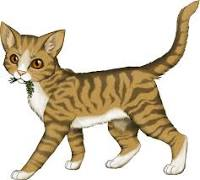 Marigoldpaw- She-cat with short light brown tabby lông, lông thú and amber colored eyes.
