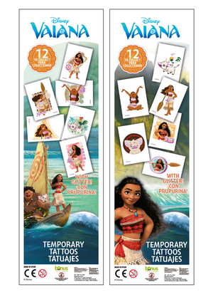Moana Temporary tatoos