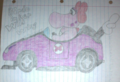 My finished third drawing of Birdo in her Wild Wing - mario-kart fan art