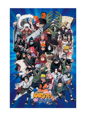 Naruto Shippuden all characters Poster