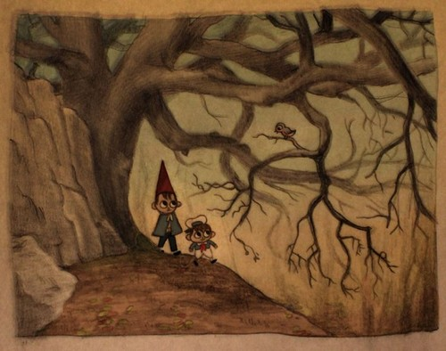 Over The Garden দেওয়াল দেওয়ালপত্র possibly containing a sign and জীবন্ত titled Over the garden দেওয়াল concept art