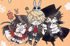 Pandora Hearts Oz Alice and Gilbert