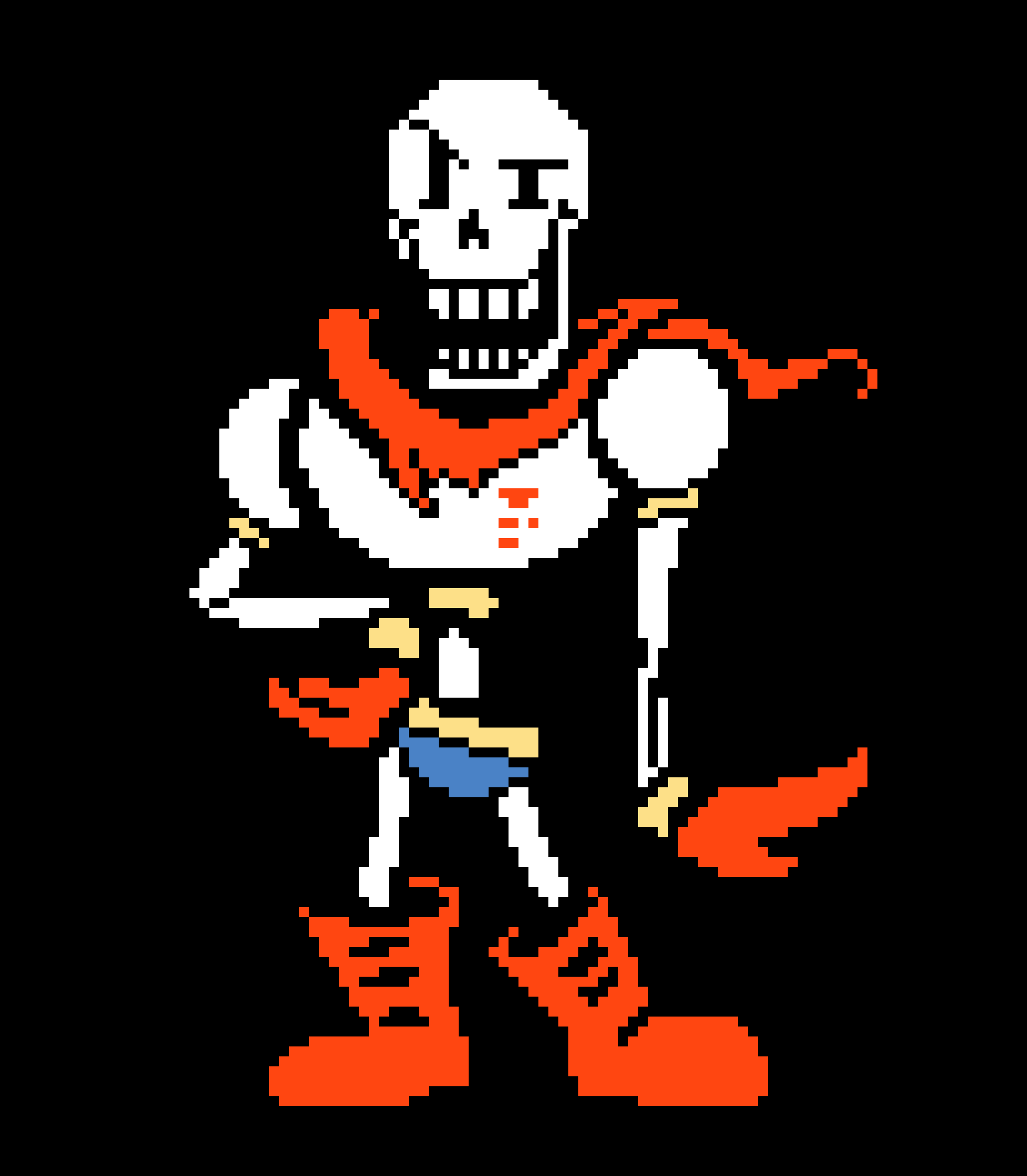 Papyrus' Battle Sprite Colored