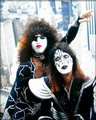 Paul and Ace  (NYC) June 24, 1976  - kiss photo