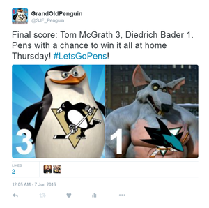 Penguins vs. Rats, Penguins vs. Sharks