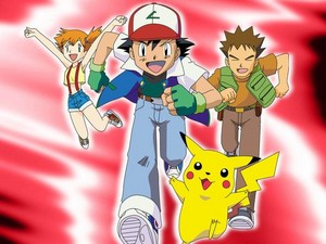 Pokémon: Misty, Ash, Pikachu and Brock