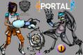 Portal OCs - portal-the-game fan art