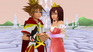 Prince Sora and Princess Kairi are Together .