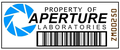 Property tag - portal-the-game photo