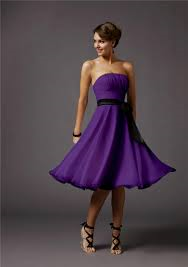 Purple कॉकटेल Dress