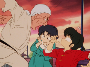 Ranma, Akane and Genma らんま1 2