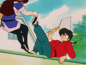 "Ranma and Ukyo Fight ""Ranma starts to get serious"""