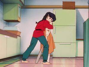 Ranma hugs Akane (ranma ep.043)