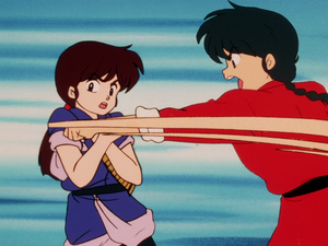 Ranma starts to fight Ukyo और seriously