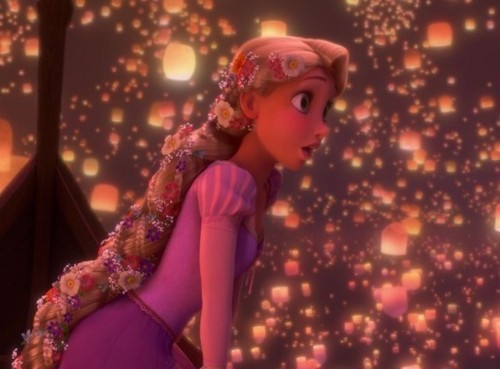 Princess Rapunzel From Tangled Wallpaper Titled Sees The Lantern