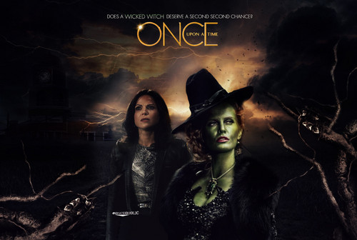 Once Upon A Time achtergrond entitled Regina and Zelena