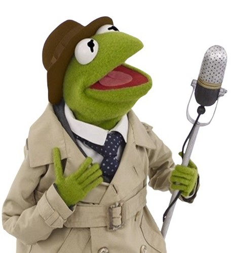 Sesame Street wallpaper called Reporter Kermit