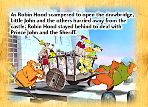 Walt Disney's Robin Hood wallpaper possibly containing anime entitled Robin Hood book