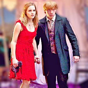 Hermione and Ron wallpaper containing a business suit, a well dressed person, and a suit entitled Ron and Hermione
