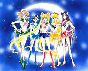 Sailor Moon and the Sailor Scouts