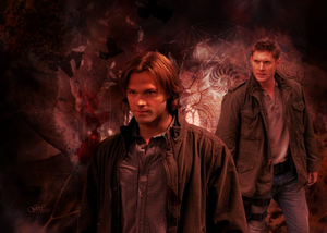 Sam/Dean hình nền - Black tim, trái tim