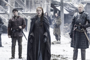 Sansa Stark, Podrick Payne and Brienne of Tarth