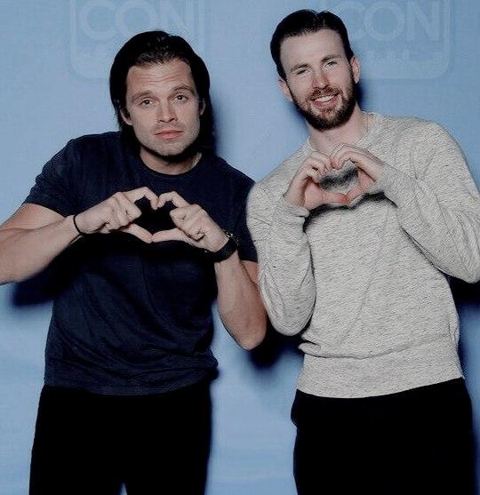 Sebastian Stan and Chris Evans