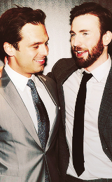 Chris Evans & Sebastian Stan fond d'écran containing a business suit titled Sebastian Stan and Chris Evans