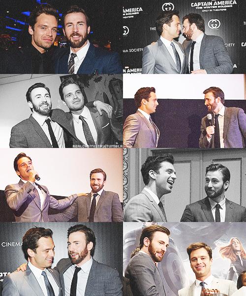 Sebastian Stan and Chris Evans photoset
