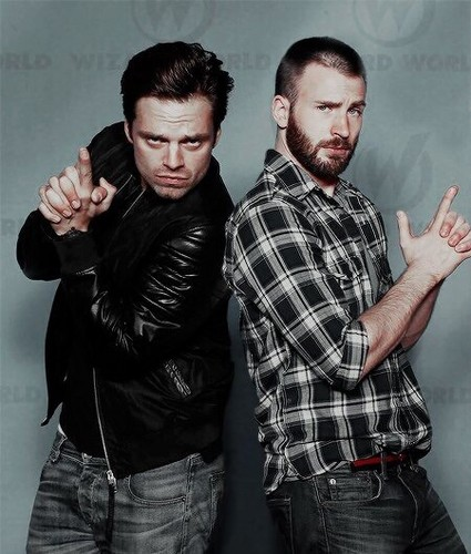 Chris Evans & Sebastian Stan fond d'écran entitled Sebastian and Chris