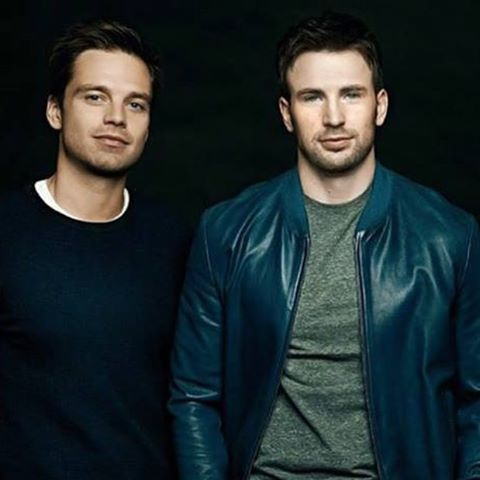 Chris Evans & Sebastian Stan wallpaper probably containing a well dressed person, a business suit, and a suit entitled Sebastian and Chris