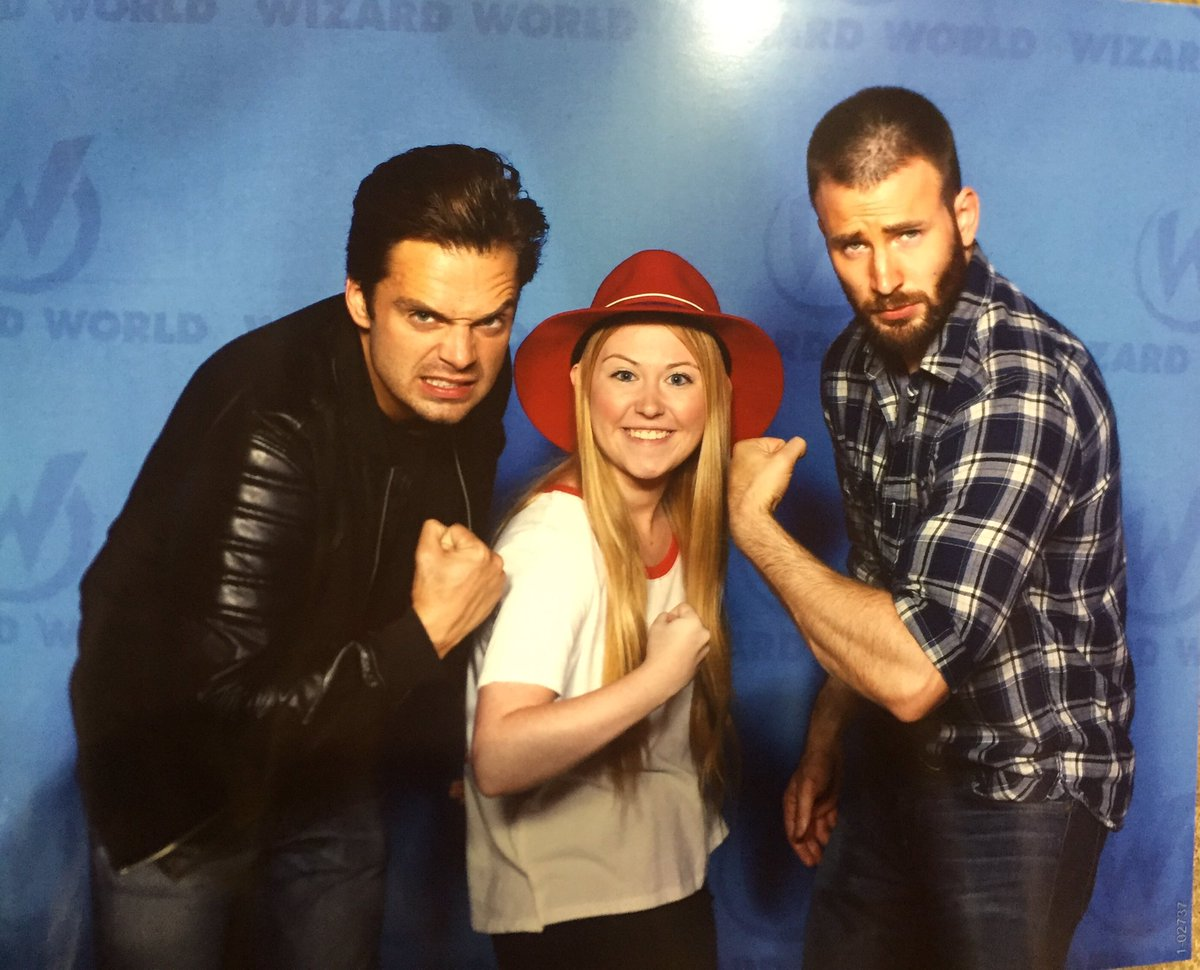 Sebastian and Chris with a fan