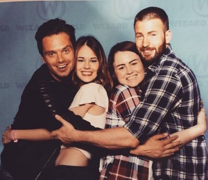 Sebastian and Chris with fans