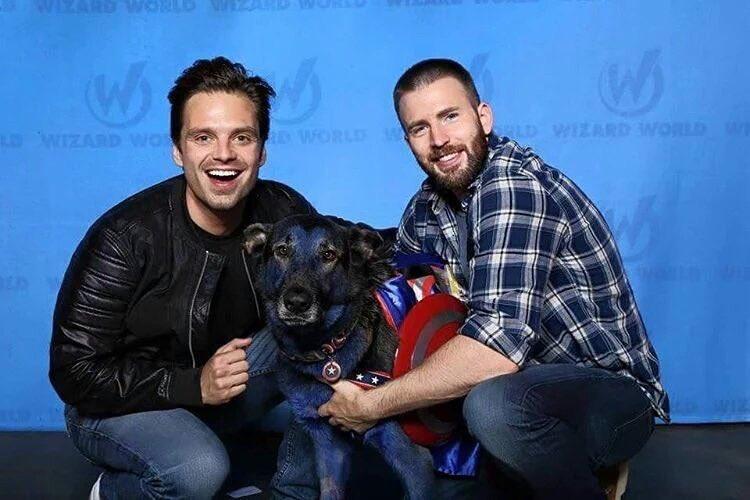 Sebastian and Chris ft. dog