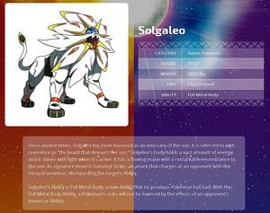 Solgaleo Details